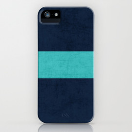 Society6 - classic - navy and aqua iPhone & iPod Case