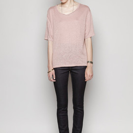 Acne - Wonder Linen Boxy T-Shirt