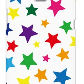SECOND SKIN - uistore「star!star!(white)」 / for  Ascend HW-01E/docomo