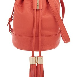 See by Chloé - Vicki medium textured-leather bucket bag