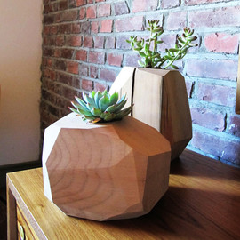 onefortythree - Mulifaceted wood planter