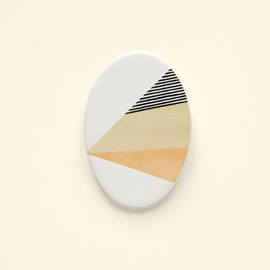 depeapa - Geometric Ceramic brooch
