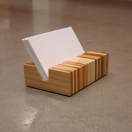 andrewsreclaimed - Retro Eames Era Inspired Minimalist Wood Business Card Holder
