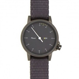MIANSAI - M24 Noir on Nylon Strap, Gray