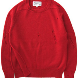 PEEL&LIFT - Damaged Shetland Jumper (red)