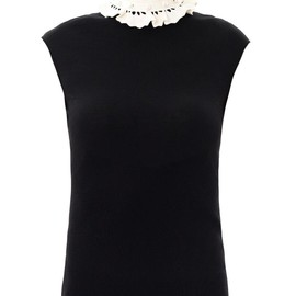 ALEXANDER MCQUEEN - Pearl-embellished ruffle-collar sweater