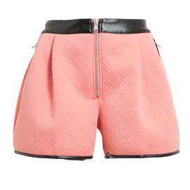 3.1 PHILLIP LIM - Quilted Neoprene and Leather Shorts