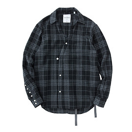 BAND COLLAR WESTERN SHIRT - BORDER