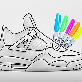 NIKE - Air Jordan 4 Retro (GS) - DIY