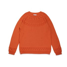 UCS TRADEMARKS - NORDIC PATTERN OPENWORK KNIT SWEATER