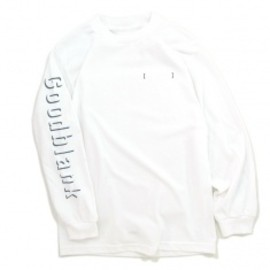 Goodblank - Shade Logo Long Sleeve TEE WHT×Wolf GRY