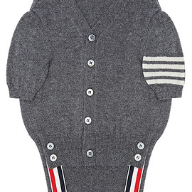 THOM BROWNE. NEW YORK - Hector Browne Canine V-Neck Cardigan