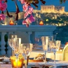 On a summer night...Dinner in Athens..