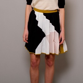 peter jensen - Mix panel skirt