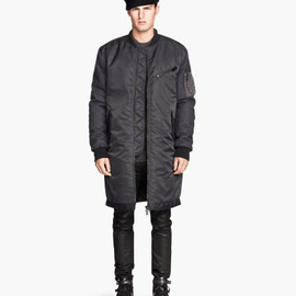 H&M - long bomber jucket