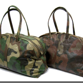 aniary - Camo Ideal Horse Leater Boston Bag