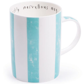 Lisa Stickley London - modestly marvellous mug, old blue superstripe