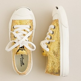 CONVERSE - Girls' Converse® Jack Purcell® glitter sneakers by J.Crew