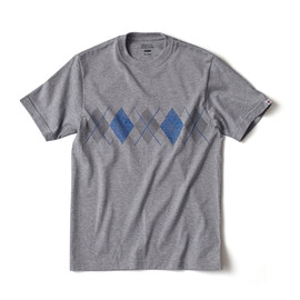 HEAD PORTER PLUS - ARGYLE TEE GREY