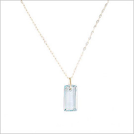 BRUML DESIGN - Aquamarine Rectangle Necklace