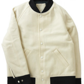 PHINGERIN - All Melton Award Jacket  (off White)