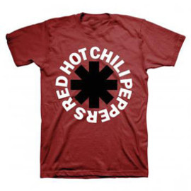 RED HOT CHILIPEPPERS / ASTERISK MAROON TEE / T-Shirts Tシャツ レッド・ホット・チリペッパーズ