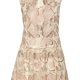 ANNA SUI - Deco embroidered tulle dress