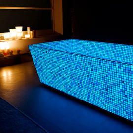 Lucedentro - Mosaic Opus One photoluminescent glass mosaic
