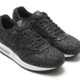 Nike - NIKE AIR MAX 1 PREMIUM BLACK/BLACK-DARK GREY-WHITE