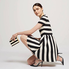 Valentino - Valentino Striped Bambolina Dress