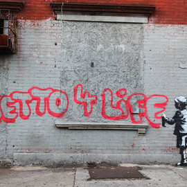 Banksy - Ghetto 4 Life in South Bronx