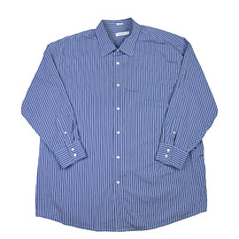 Calvin Klein - Calvin Klein Striped Button Up Shirt in Blue Mens Size 4XL