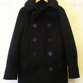 SINGLE RAGLAN COAT - Gabardine / Navy