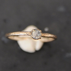noguchi - natural diamond(rose cut) ring