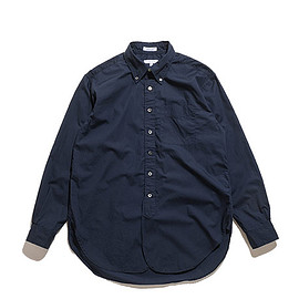 ENGINEERED GARMENTS - 19th BD Shirt-Superfine Poplin-Dk.Navy