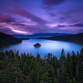 California USA - Emerald Bay Sunset - Lake Tahoe