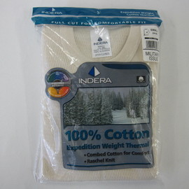 INDERA MILLS - 890LS 100% Cotton Expedition Military Issue Thermals
