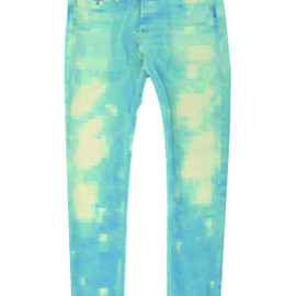 ANREALAGE - LOW PIXEL DAMAGE DENIM PANTS
