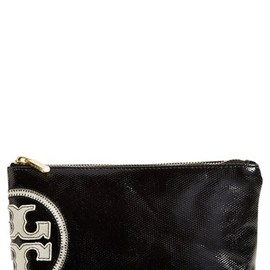 TORY BURCH - 'Small' Canvas Cosmetics Case