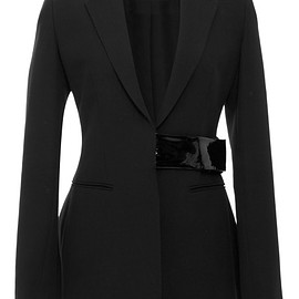 Christopher Kane - Pre-Fall 2015 Tailored Jacket With Patent Leather Fastening