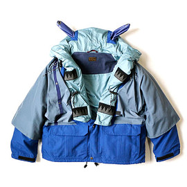 Kaptial - Kaptial Fall Winter 2018 Kamakura Anorak Blouson Blue Light