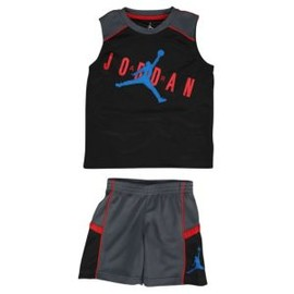 Jordan - Jordan Classic Muscle Set - Boys' Preschool - Dark Grey/Black/Sport Red/Photo Blue