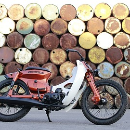 "HONDA - custom cub ""The orange grasshopper"""