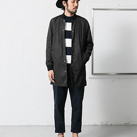 URBAN RESEARCH DOORS - Memory Cloth Rib Coat