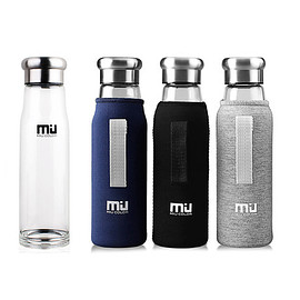 MIU COLOR - BOROSILICATE GLASS WATER BOTTLE 18.5oz