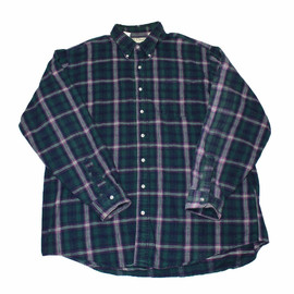 L.L.Bean - Vintage 90s LL Bean Plaid Flannel Button Down Shirt Made in USA Mens Size XL