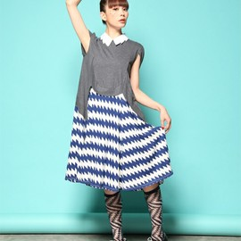 mintdesigns - ZIG-ZAG COLLAR DRESS