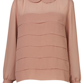 TOPSHOP - Tiered Peterpan Collar Blouse