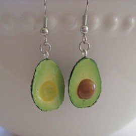 Artwonders  - Avocado Earrings - Mini Food Jewelry -  Surgical Stainless Steel