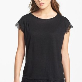 MARC BY MARC JACOBS - 'Carmen' Jersey & Lace Tee